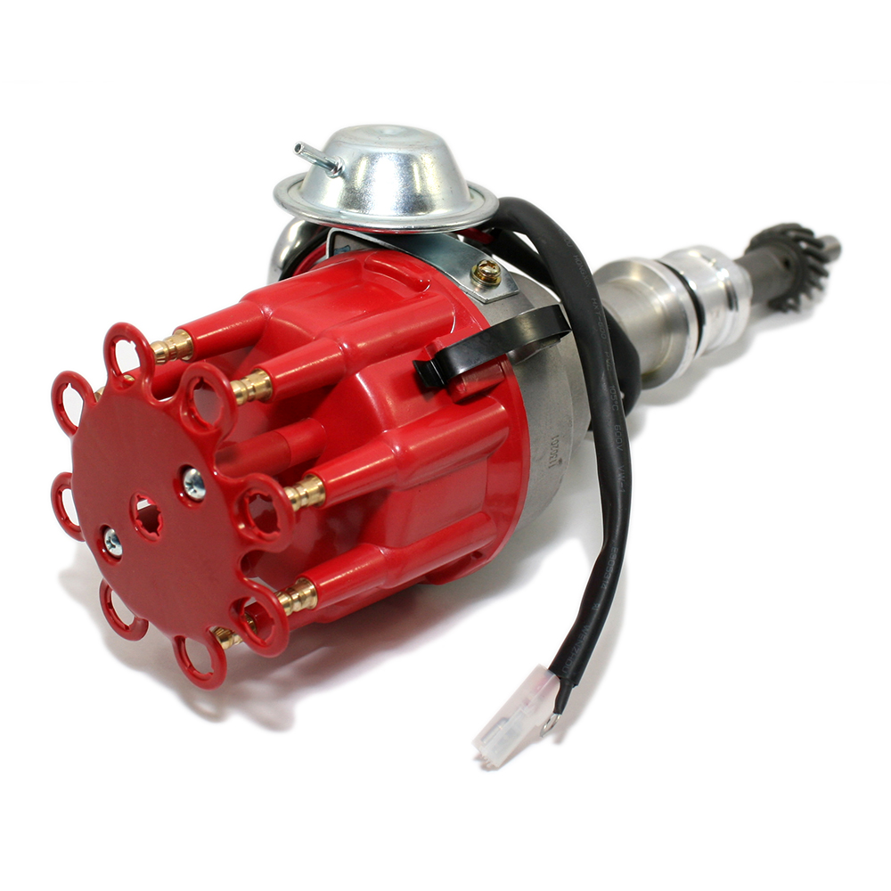 hight resolution of small block ford ready to run red cap distributor