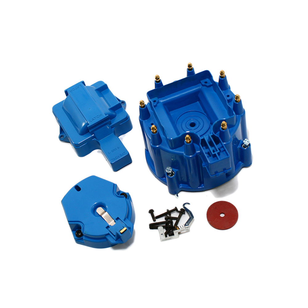 hight resolution of hei distributor cap with rotor blue