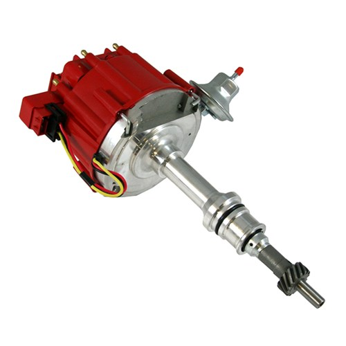 small resolution of small block ford hei red cap distributor 65k coil