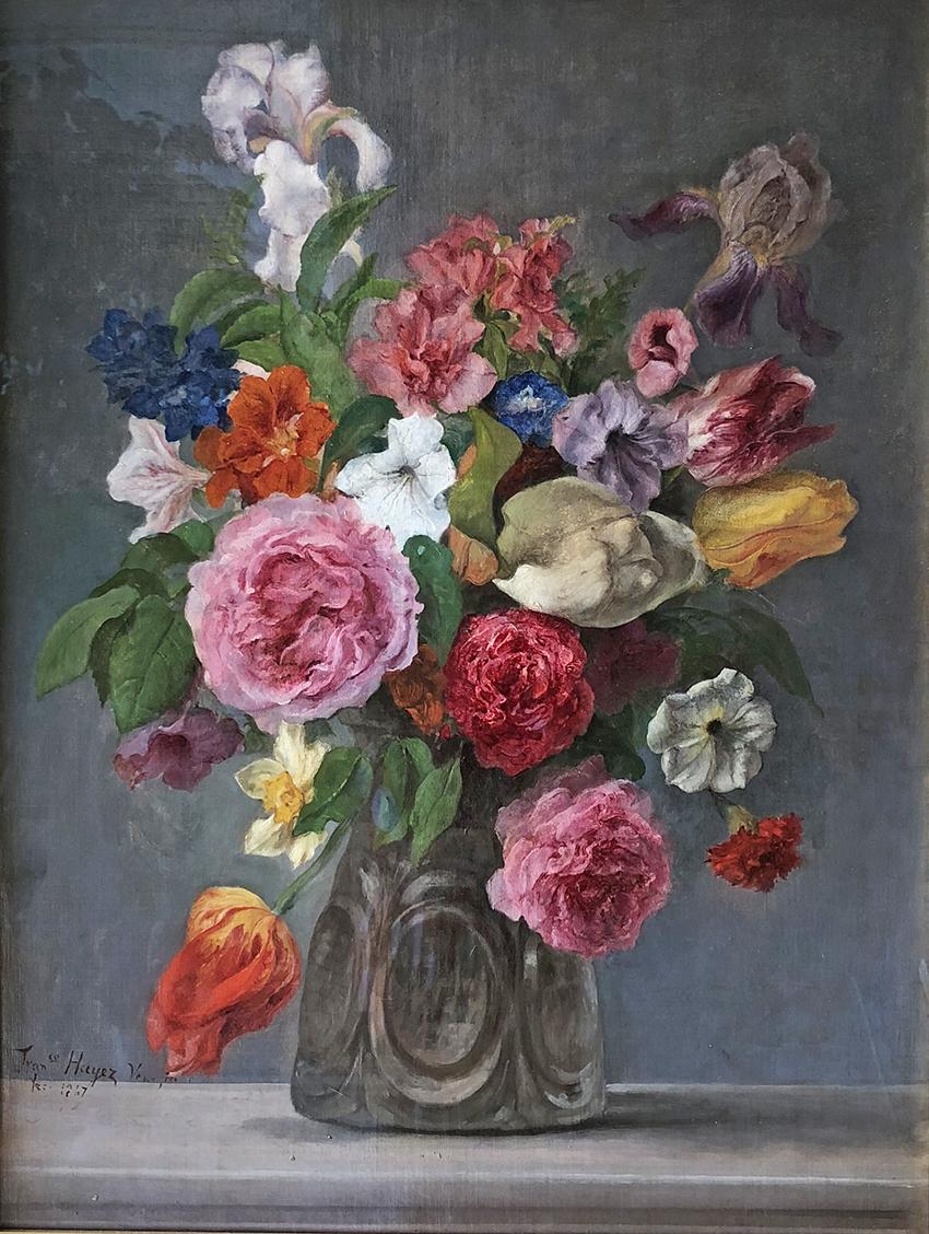 Hayez – Vaso di fiori