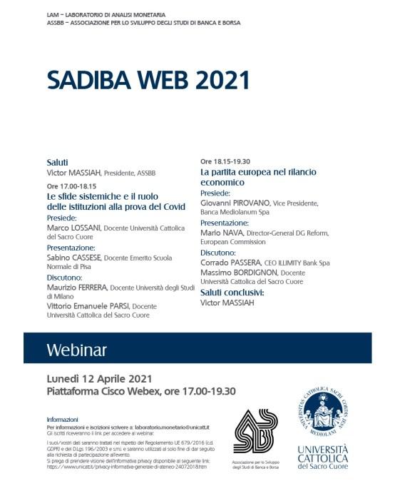 Sadiba Web 2021 – 12 aprile