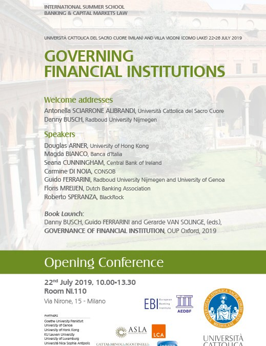 Governing financial loc