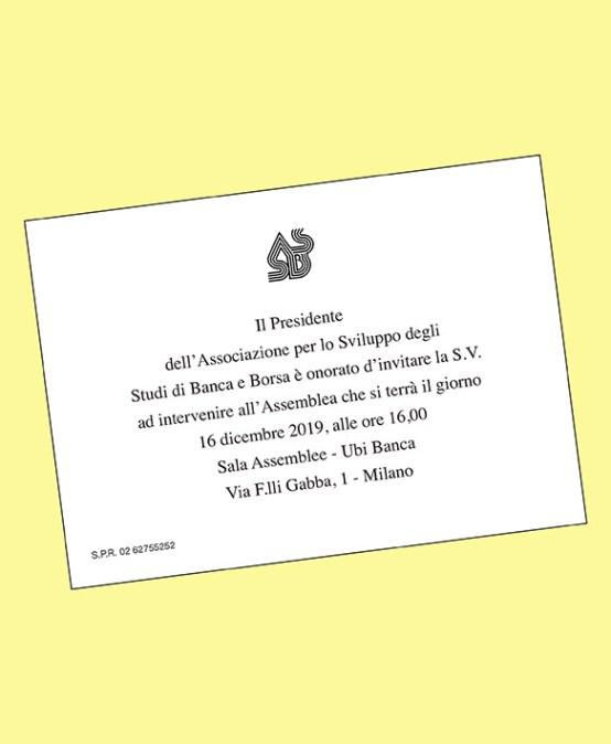 Assemblea dell'Associazione per lo Sviluppo degli Studi di Banca e Borsa
