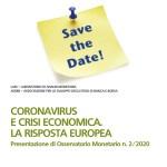 Convegno e Webinar CORONAVIRUS E CRISI ECONOMICA. LA RISPOSTA EUROPEA