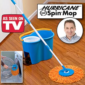 Hurricane Spin Mop 360 Wash Dry And Polish As Seen On