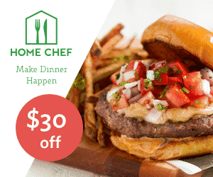 Edit Snippet Home Chef Meal Kits Fresh Ingredients Delivered $30.00 Off