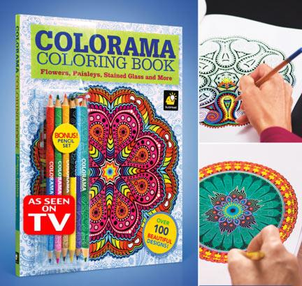 Colorama Coloring Book Coloringbook Flowers