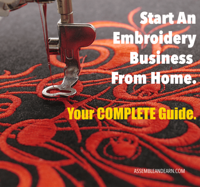 embroidery business from home