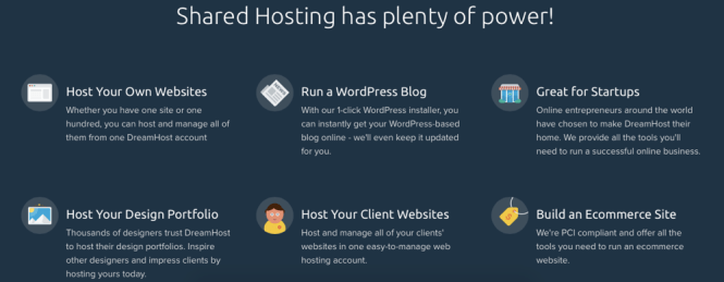 Dreamhost features