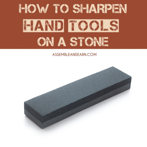 sharpening hand tools on a stone