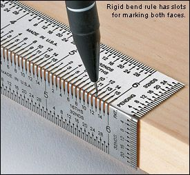 Perforated measuring ruler