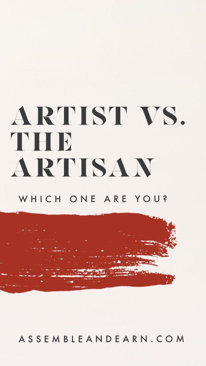 Artist vs artisan