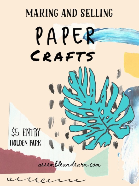 make and sell paper crafts