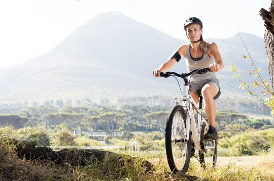 cycling for cardio workout and muscle building