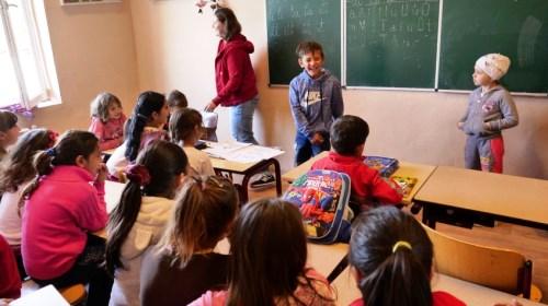 School zigeunerkamp Barkaso oekraine