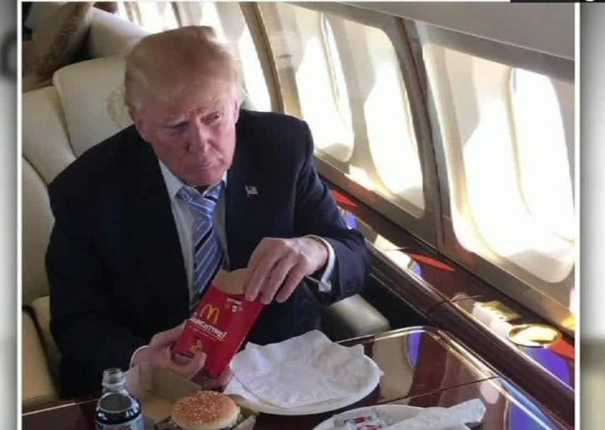 Even without the buns, Trump's favorite fast-food meal is a diet-buster