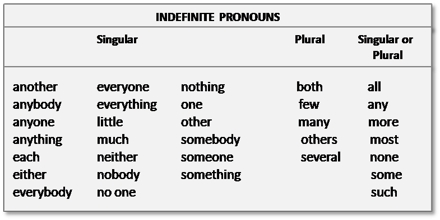 Indefinite Pronoun Assignment Point