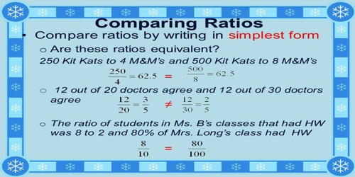 How To Compare Ratios? Assignment Point