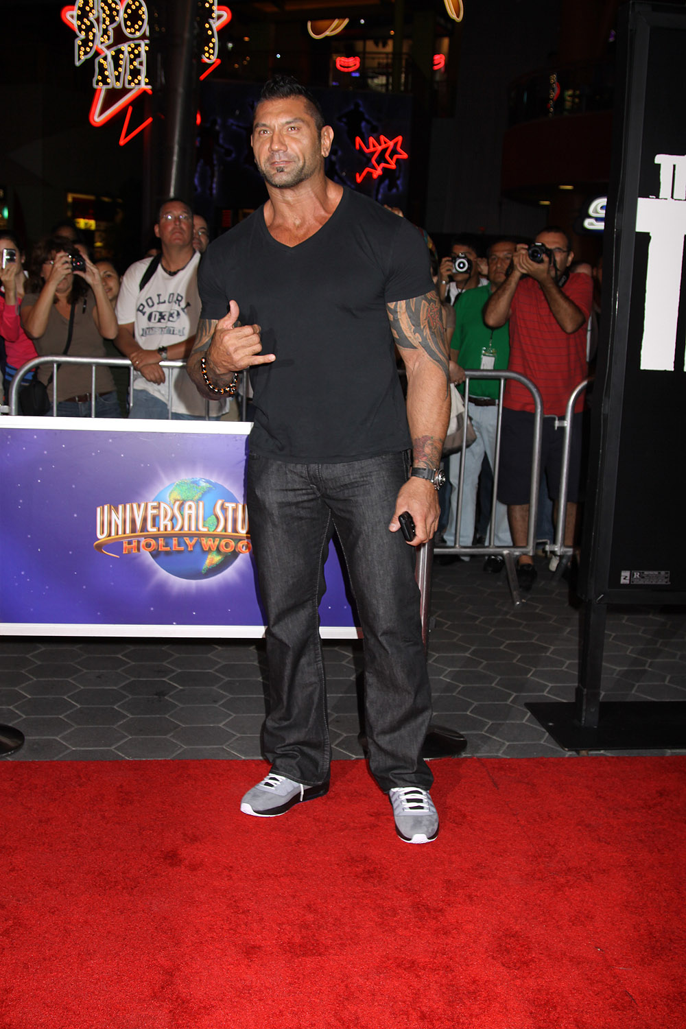 David Bautista at the World Premiere of THE THING  2011