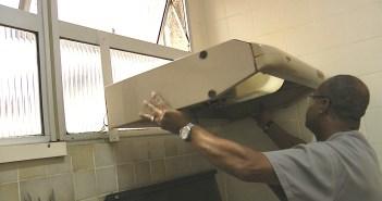 instalar depurador de ar na cozinha