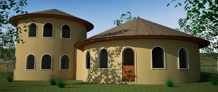 casas construida pela tecnica superadobe