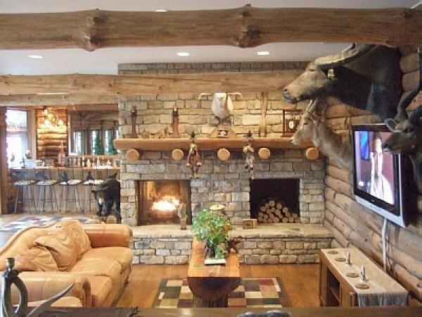 sala decoração rústica
