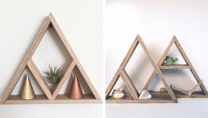 estantes de triángulo diy