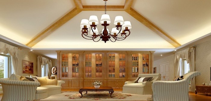 lustre central da sala