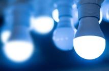 lâmpadas Led acessas e apagadas