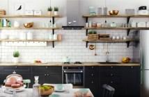 prateleiras abertas de cozinha