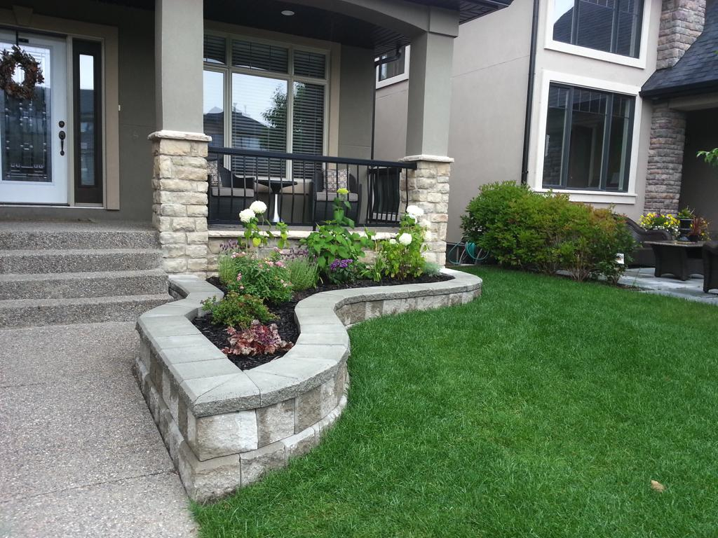 New Retaining Wall Project Assiniboine Lights Amp Landscapes