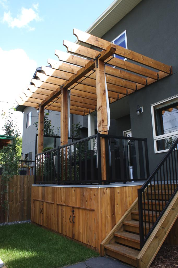 Pergola And Privacy Lattice Calgary Landscaping Company