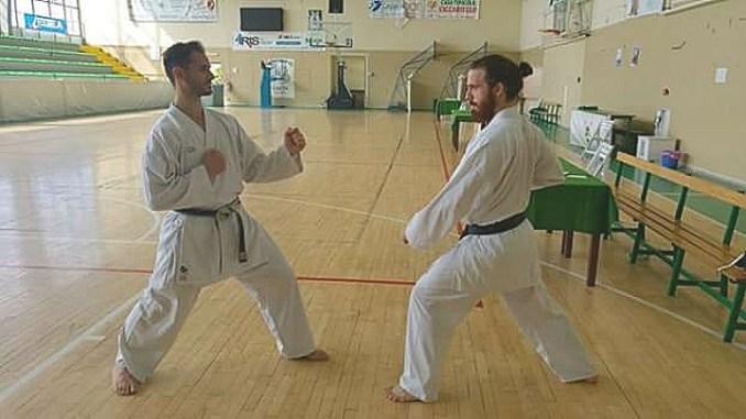 Karate passaggio di grado, Simone Cipiciani quinto Federico Belloni terzo dan