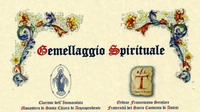 Gemellaggio Ordine Francescano Secolare di Assisi Clarisse Aquapendente La Santa Messa è tutto un susseguirsi di momenti toccanti