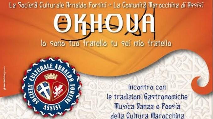 Okhoua, Io sono tuo fratello tu sei mio fratello agli Instabili Società Culturale Arnaldo Fortini e Comunità Marocchina di Assisi
