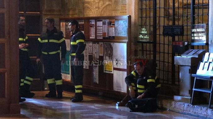 Attivo dispositivo speciale Vigili del Fuoco per Sete di Pace Assisi