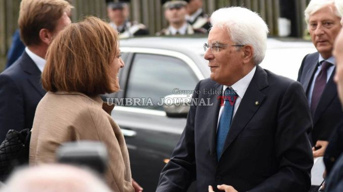 Presidente Repubblica Sergio Mattarella in Basilica ad Assisi accreditamento giornalisti