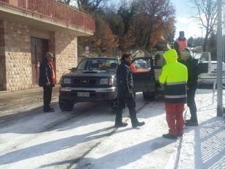 Neve e ghiaccio ad Assisi, sindaco e vice in strada, tutto sotto controllo