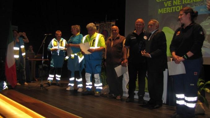Terremoto Centro Italia, premiati i volontari delle Misericordie