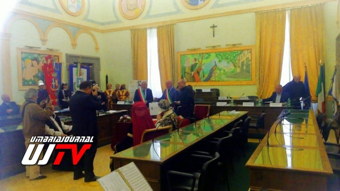 Marino di Roma, firmato atto rinnovo fraterna amicizia con Assisi e Cortona