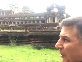 Padre Enzo Fortunato in Cambogia, ad Angkor Wat