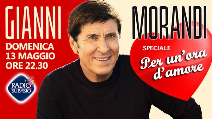 Gianni Morandi a Radio Subasio allo Speciale per un'Ora d'amore