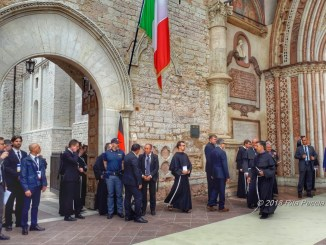 Si attendono la Merkel e Santos, città blindata, tanti i giornalisti