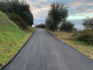 Piano strade 2, in fase di conclusione i lavori in via della Palazzetta, a Sterpeto
