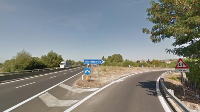 Cantiere di 5 chilometri sulla 75 Centrale Umbra allo svincolo di Rivotorto
