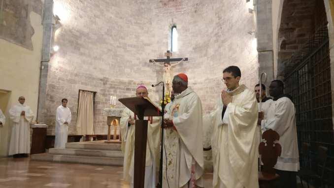 Cardinale Peter Turkson oggi al Santuario della Spogliazione Assisi