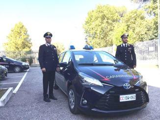 Carabinieri ecologici quelli di Assisi, viaggiano in auto ibrida ed elettrica
