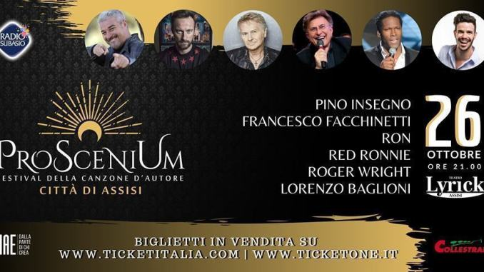 ProSceniUm, ci saranno anche Ron, Francesco Facchinetti e Red Ronnie