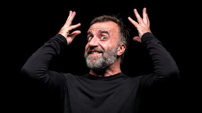 Mistero Buffo di Dario Fo con Ugo Dighero al Piccolo Teatro degli Instabili
