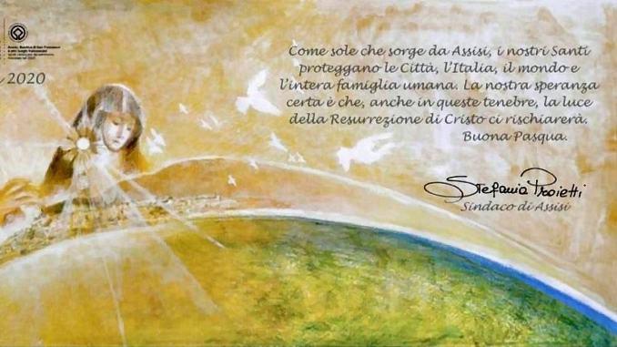 In questa Pasqua diversa l'augurio da Assisi è stato quello di una rinascita